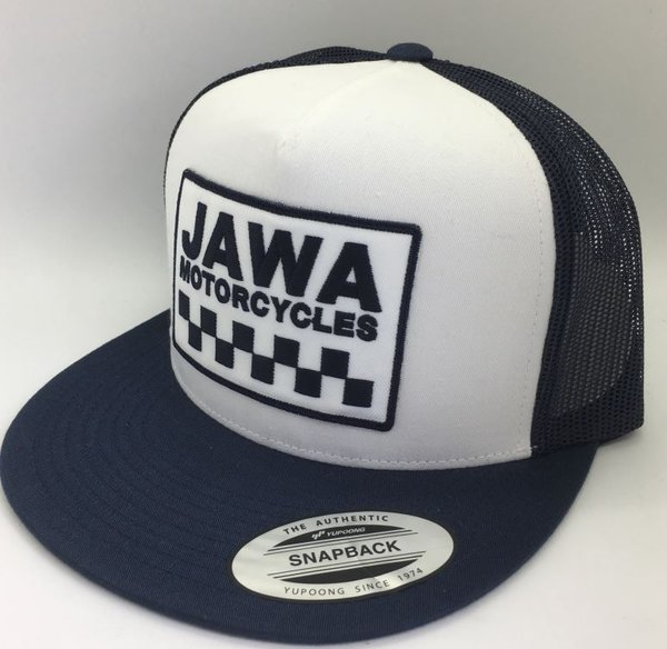 WHITE/NAVY TRUCKER CAP