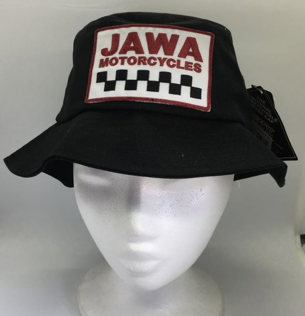 JAWA Cotton Twill Bucket Hat - BLACK